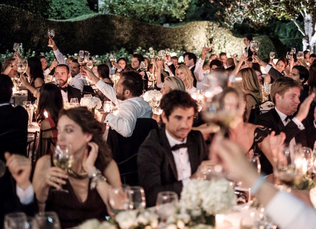 Selección de Viña Somoza servido en boda