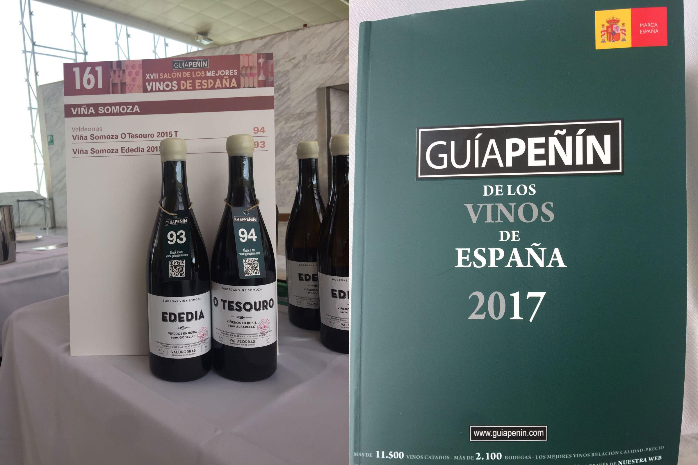 ededia y o tesouro en el salón de los mejores vinos de la guía peñín 2016