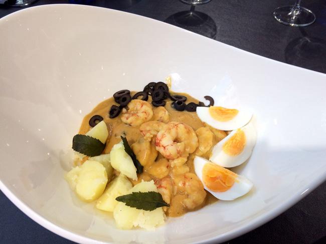 plato y receta de ají de langostinos